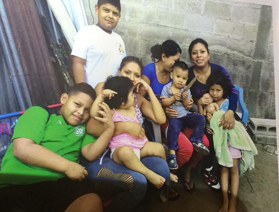 Photo of family in Central America